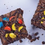 brownies con m&m's